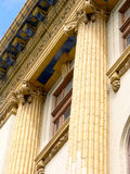 Ornate fluted columns Stock Photo