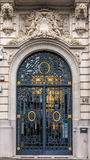 Ornate forged door  in Antwerp Royalty Free Stock Photography