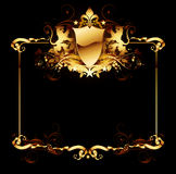 Ornate frame. Gold ornate frame with lions, this illustration may be use as designer work Stock Photo