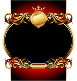 Ornate frame. Graceful oval ornate frame, this  illustration may be useful  as designer work Royalty Free Stock Photo