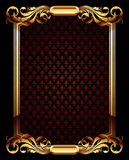 Ornate frame. Gold ornate frame with lilys, this  illustration may be useful  as designer work Royalty Free Stock Photos