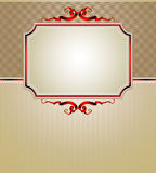 Ornate frame. Elegant ornate frame with red ribbon, this  illustration may be useful  as designer work Royalty Free Stock Photo
