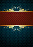 Ornate frame. Gold ornate frame on bicolor background , this  illustration may be useful  as designer work Royalty Free Stock Photo