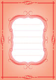 Ornate frame. Retro postcard with ornate frame Royalty Free Stock Photos
