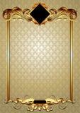 Ornate frame. Gold ornate frame, this illustration may be useful as designer work Stock Images