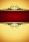 Ornate frame. On the yellow background, this  illustration may be useful  as designer work Royalty Free Stock Photo