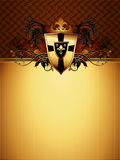 Ornate frame. Decorated medieval shield, this  illustration may be useful  as designer work Royalty Free Stock Photography