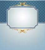 Ornate frame. Elegant ornate frame on the blue background, this illustration may be useful as designer work Royalty Free Stock Images