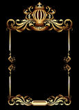 Ornate frame. Golden ornate frame with crown, this illustration may be useful as designer work Royalty Free Stock Image