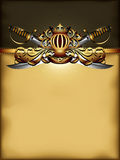 Ornate frame with arms Stock Images