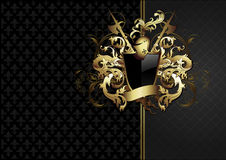 Ornate frame with arms Royalty Free Stock Photos