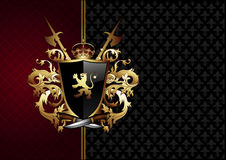 Ornate frame with arms Royalty Free Stock Image