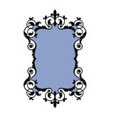 Ornate frame blue insert Stock Image