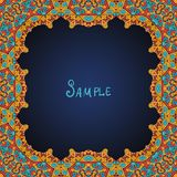 Ornate frame border with a lot of copyspace Royalty Free Stock Images