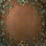 Ornate Frame Copper Patina stock images