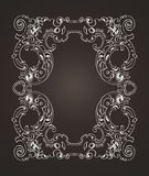 Ornate Frame On Dark Brown Background Stock Photo