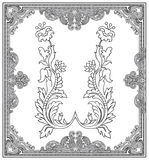 Ornate frame and design elements Royalty Free Stock Photography