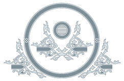 Ornate frame and design elements Stock Image
