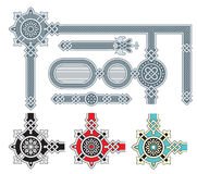 Ornate frame design elements Stock Images