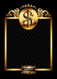 Ornate frame with dollar symbol Stock Photo