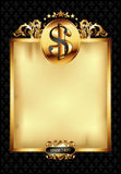 Ornate frame with dollar symbol Stock Photography