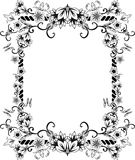 Ornate frame with flowers. And butterflies. stencil second variant Stock Photos