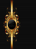Ornate frame. Ornate golden frame, this illustration may be useful as designer work Stock Image