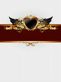 Ornate frame with heart form Royalty Free Stock Photography