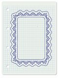 Ornate frame in notebook Royalty Free Stock Image