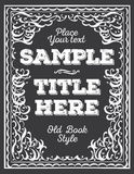 Ornate frame. Royalty Free Stock Photo