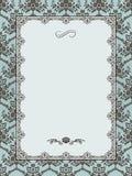 Ornate frame on seamless damask background. Stock Image