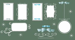 Ornate Frame Set. Editable and scalable vector illustration Stock Photography