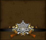 Ornate frame with sheriff star Stock Photos