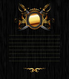 Ornate frame with star and sabers Royalty Free Stock Photos
