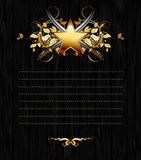 Ornate frame with star and sabers Stock Photos
