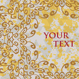 Ornate frame for text in oriental style Royalty Free Stock Image