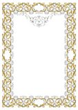 Ornate frame vector Royalty Free Stock Image