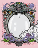 Ornate frame vector. Frame decoration - eclectic style.  Additional  format Illustrator 8 eps Royalty Free Stock Images