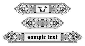 Ornate frame vector Royalty Free Stock Photo