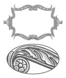 Ornate frame in vintage engraving style Royalty Free Stock Photo