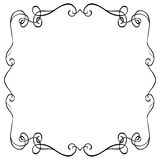 Ornate frame on a white background Royalty Free Stock Photography
