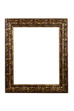 Ornate frame on white with copy space Royalty Free Stock Photography