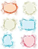 Ornate frames. Royalty Free Stock Image
