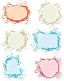 Ornate frames. Royalty Free Stock Image