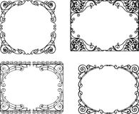 Ornate frames in the art nouveau style. Vecor drawings of the decorative vintage frames vector illustration