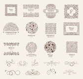 Ornate frames and Collection of design elements,labels,icon for packaging,design of luxury products. vector Royalty Free Stock Photos