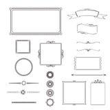 Ornate frames and design elements Stock Images