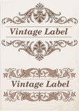 Ornate frames and labels elements. Ornate frames and labels elements vector set vector illustration
