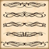 Ornate frames and scroll elements Stock Photo