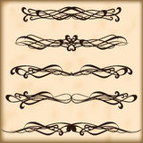 Ornate frames and scroll elements Stock Photos
